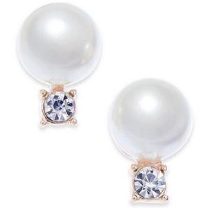 Charter Club Gold-Tone Imm Pearl Stud Earrings